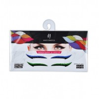Eyeliner Adhesive Sticker - Green & Blue/Black