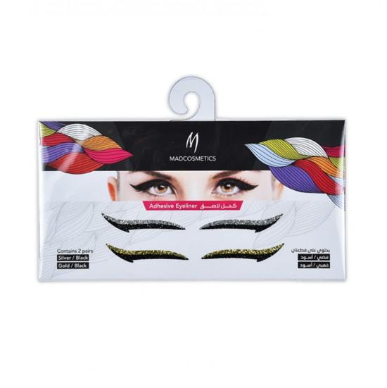 Eyeliner Adhesive Sticker - Metallics / Black
