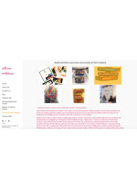 Laxmi Advani Blog Online